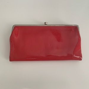 Hobo Red Patent Leather Lauren Clutch Wallet
